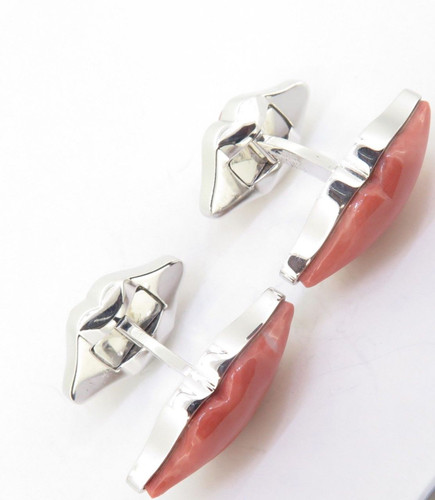 Pair Of Paul Longmire 18k Gentleman's Coral Cufflinks