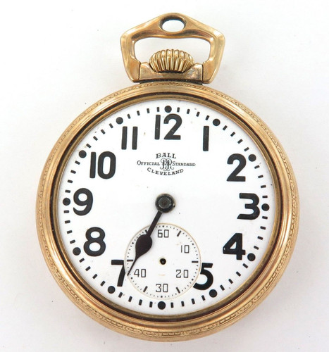 1949 BALL 999B 16S 21J 6 ADJUSTS RAILROAD GRADE POCKET WATCH.