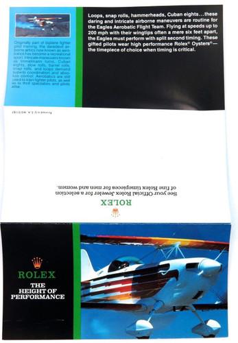 "1987 SCARCE ROLEX BROCHURE ""THE HEIGHT OF PERFORMANCE"". EXPLORER, DATEJUST ETC."