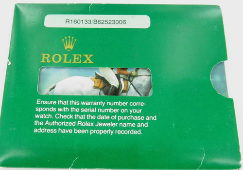 1984 ROLEX MENS USA DATEJUST 160133 WARRANTY COVER & BOOKLET