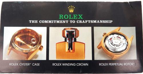 1982 RARE ROLEX BROCHURE. 18kt GOLD WATCHES & BRACELETS. DATEJUST, DAY-DATE