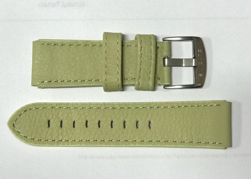 24MM GERMAN MADE PALE LIME SOFT LEATHER STRAP & STEEL BUCKLE BY GLYCINE #K