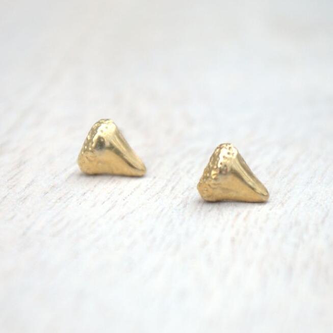 Bite Me Stud Earrings in Gold or Silver