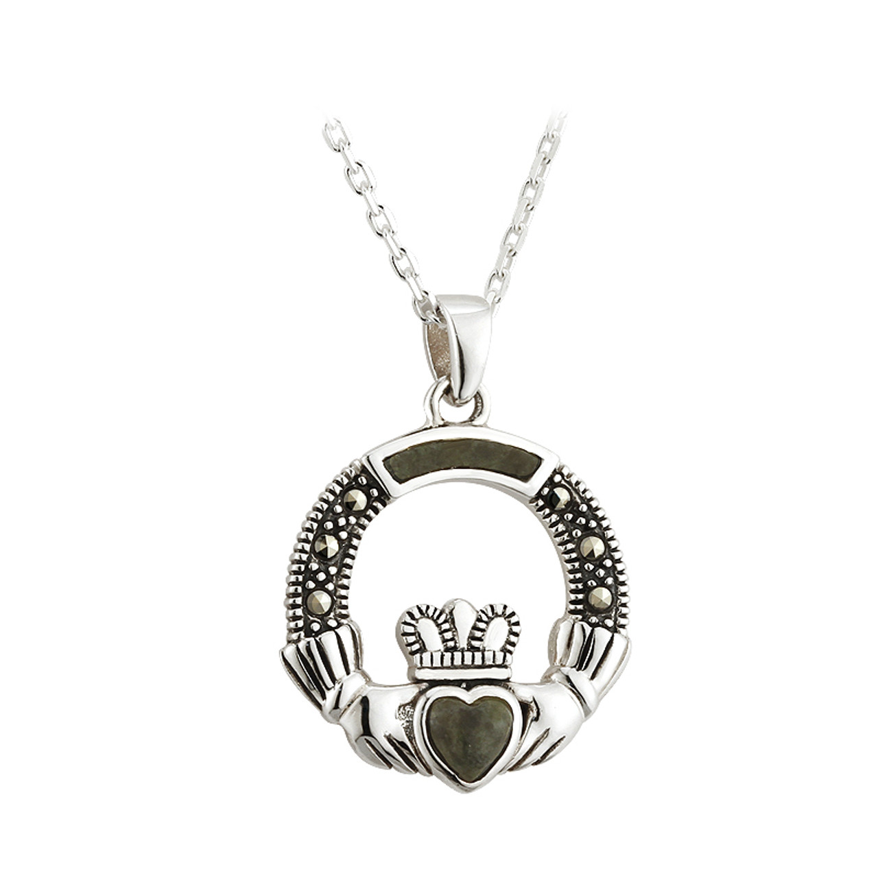 claddagh birthstone living celtic with sterling bliss pendant silver