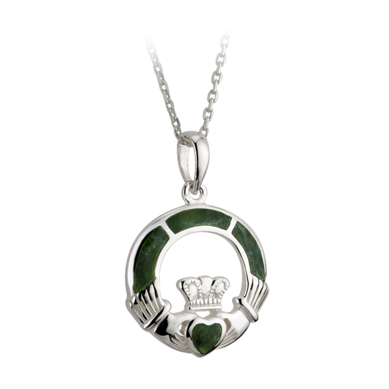 diamond silver pendant ltd necklaces rings celtic claddagh