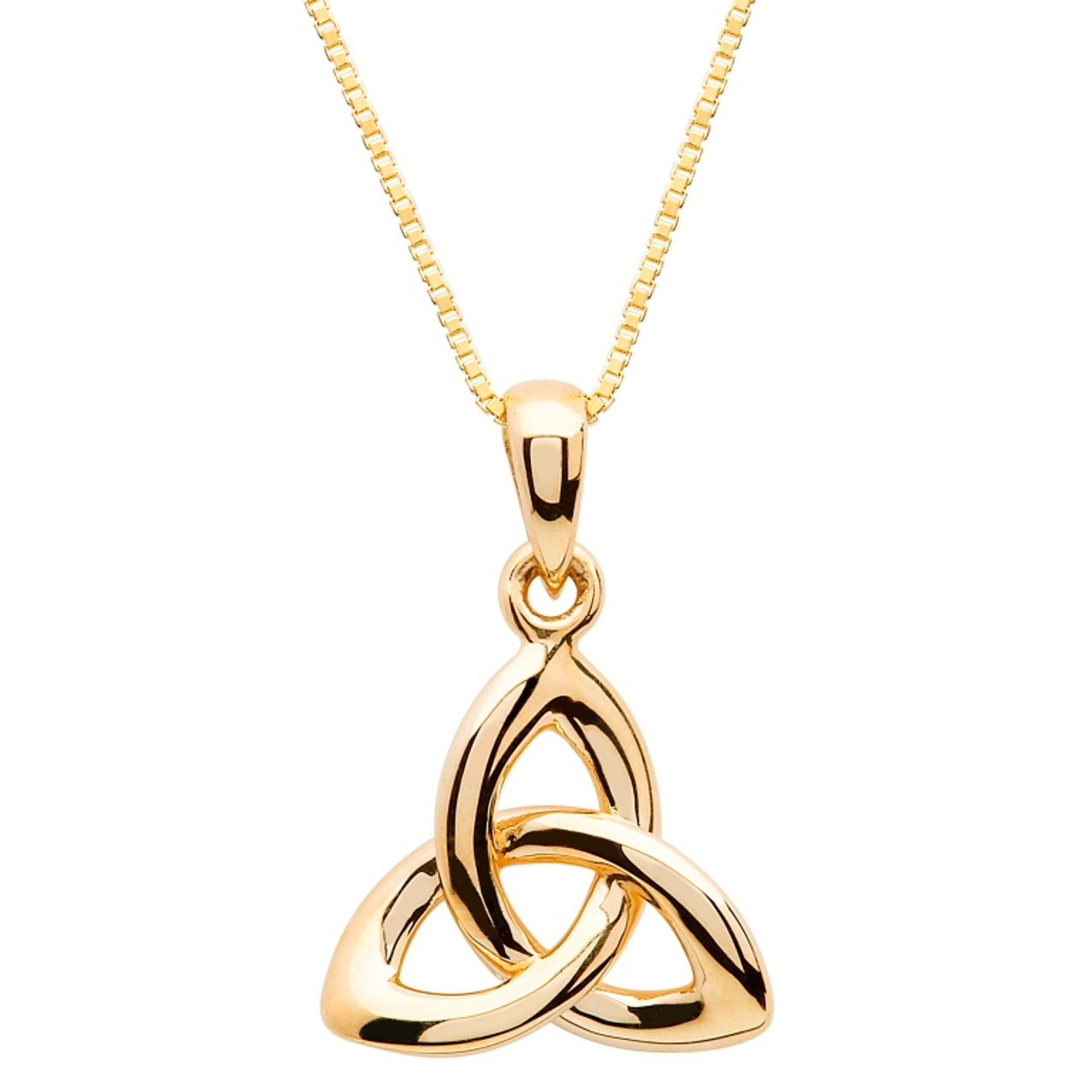 10 karat yellow gold trinity knot pendant the twisted shamrock 10 karat yellow gold celtic trinity knot pendant aloadofball Images