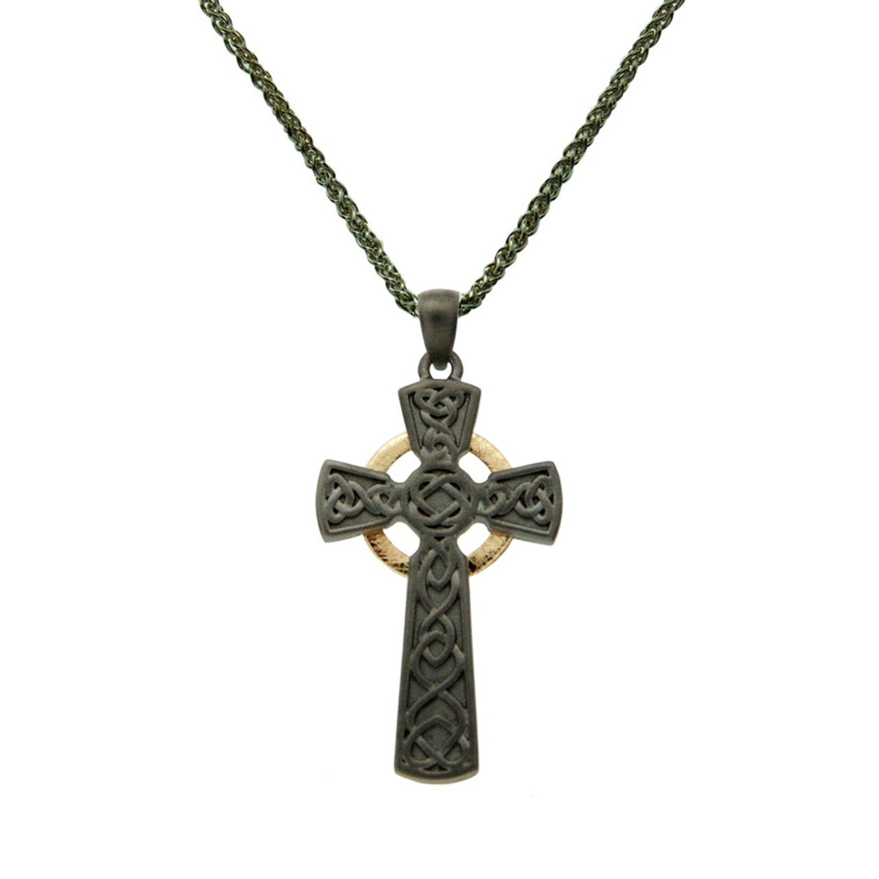 necklace celtic cross necklec marcasite sterling silver marcastie