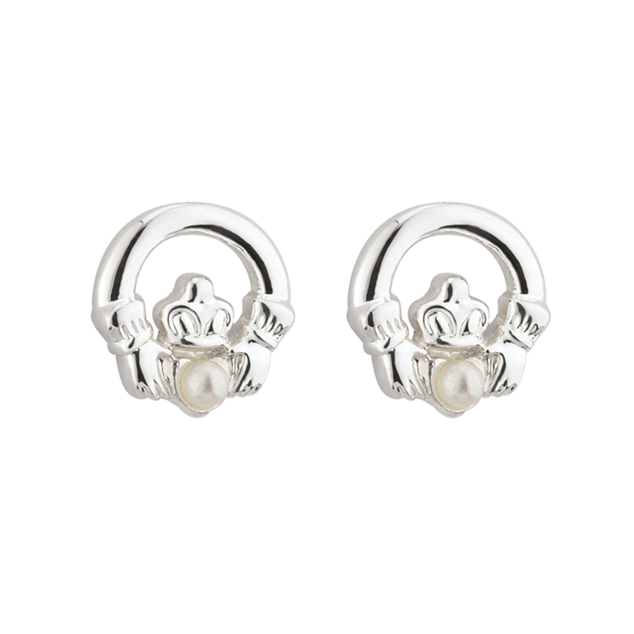 gold webstore samuel product earrings claddagh number h stud d