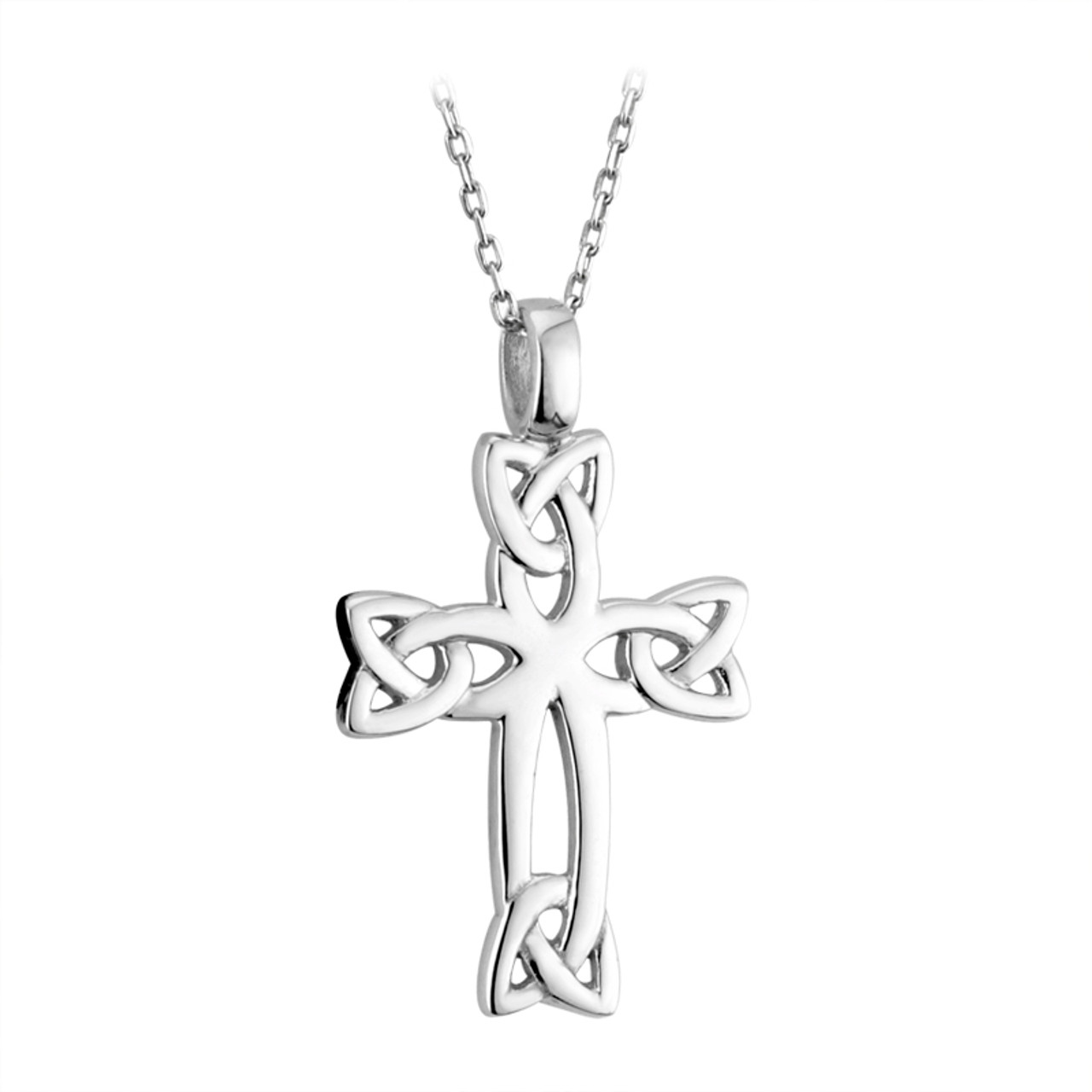 cross celtic pendant silver handmade large