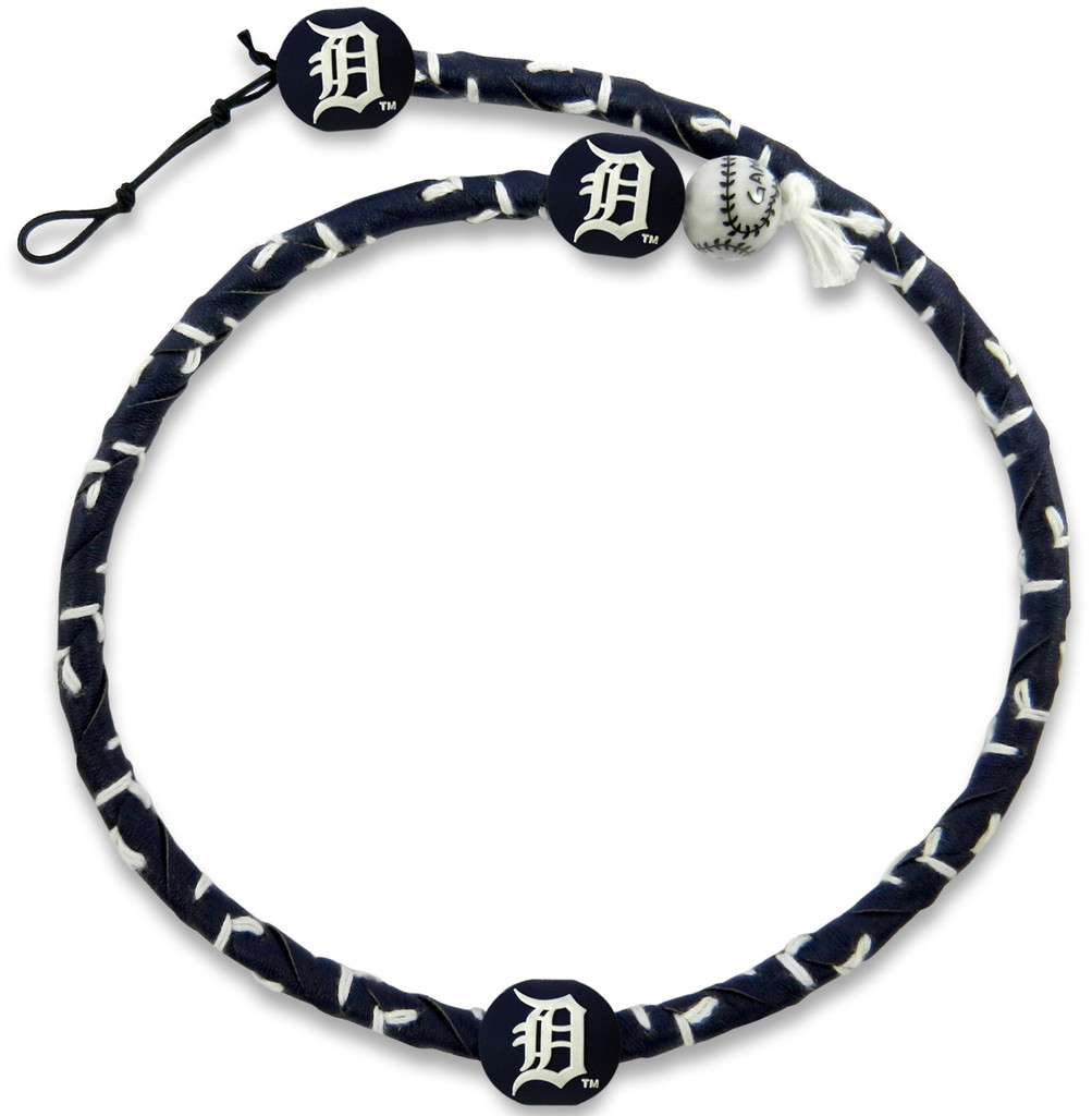 Detroit Tigers Team Color Frozen Rope Baseball Necklace