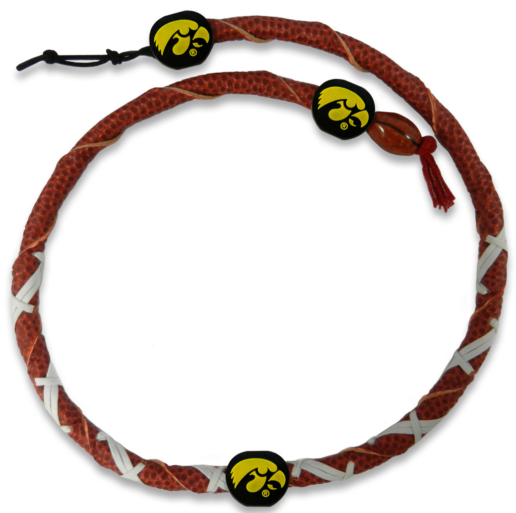 Iowa Hawkeyes Classic Spiral Football Necklace