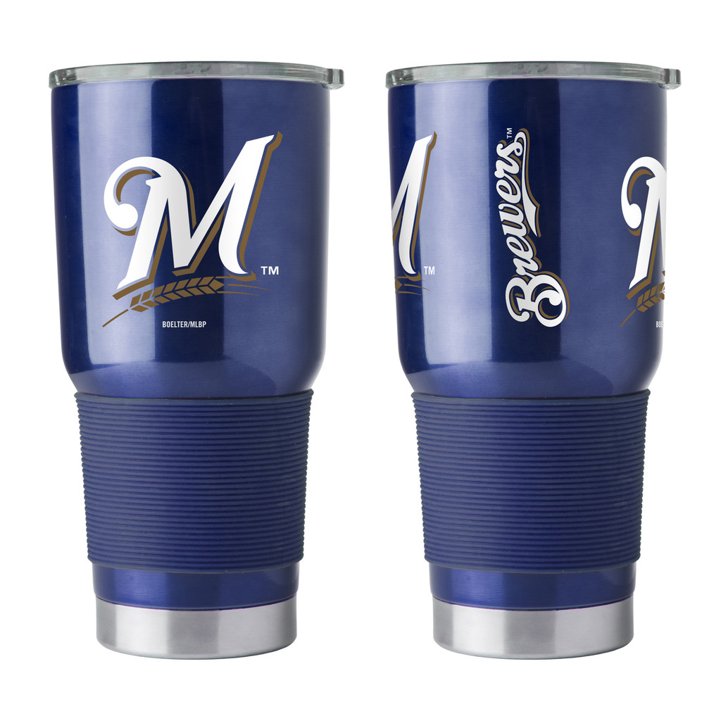 Milwaukee Brewers Travel Tumbler 30 oz Ultra Flared Navy
