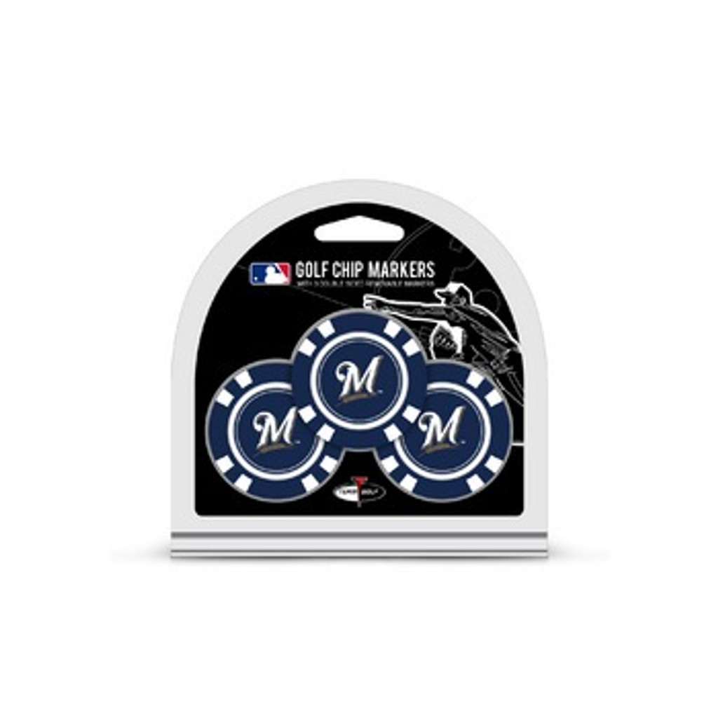 Milwaukee Brewers Golf Chip with Marker 3 Pack
