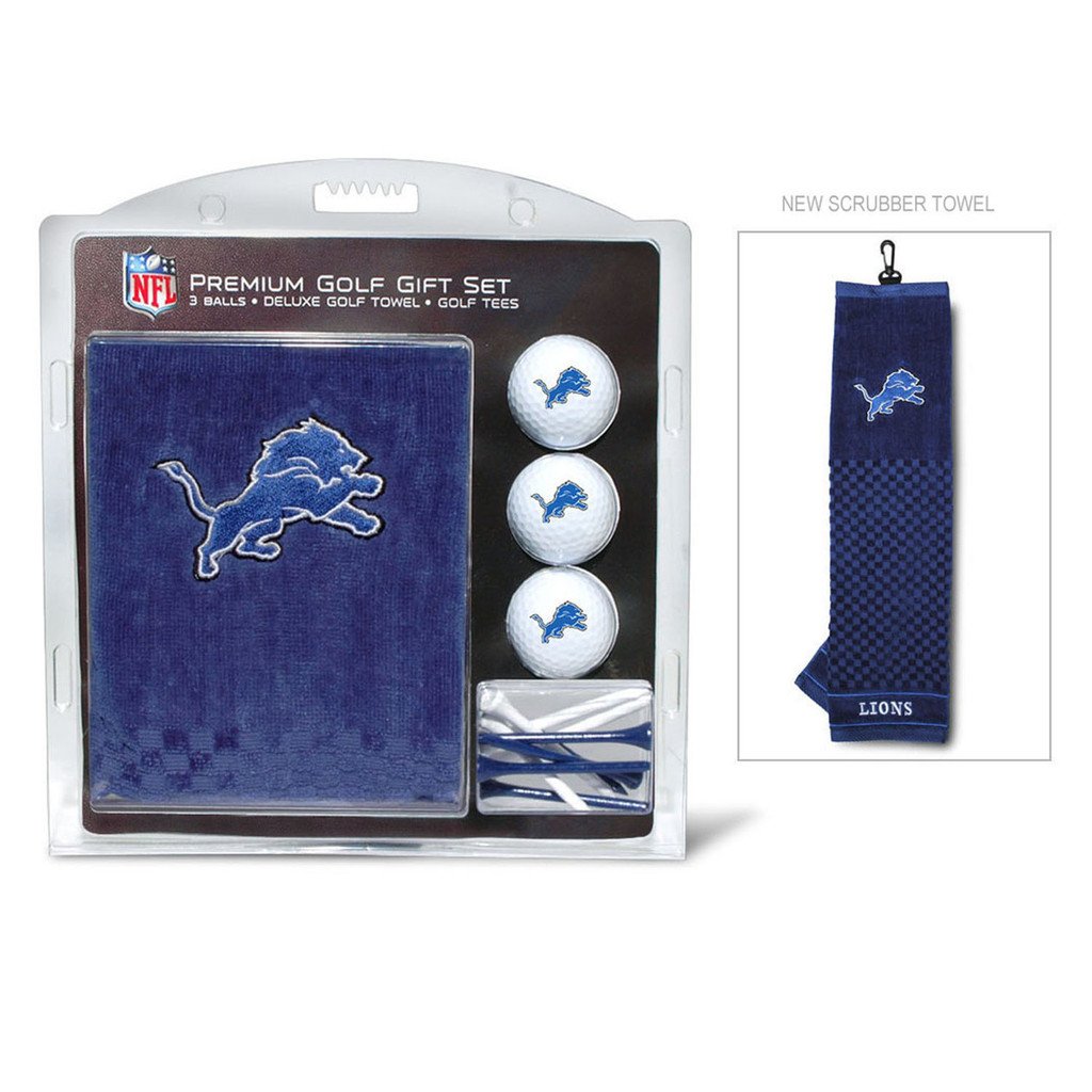 Detroit Lions Golf Gift Set with Embroidered Towel