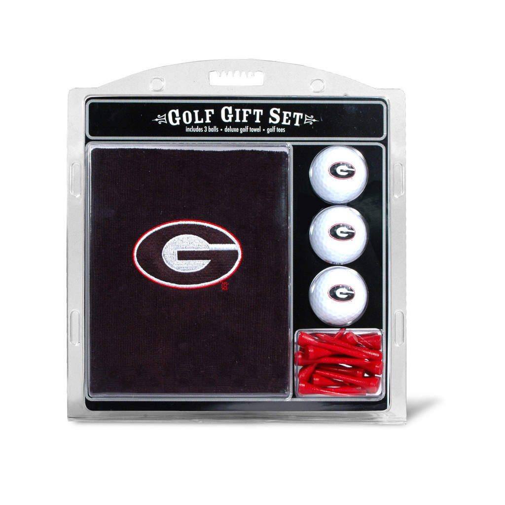 Georgia Bulldogs Golf Gift Set with Embroidered Towel