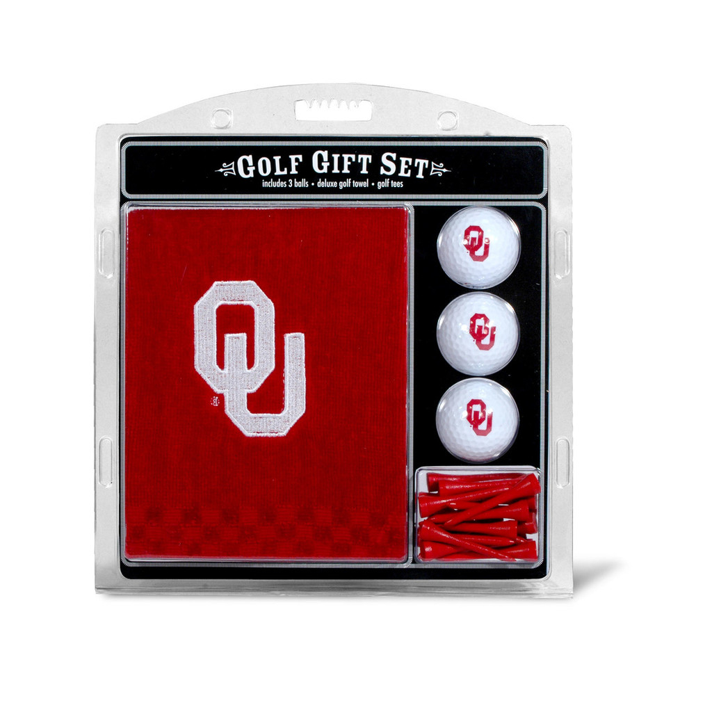 Oklahoma Sooners Golf Gift Set with Embroidered Towel