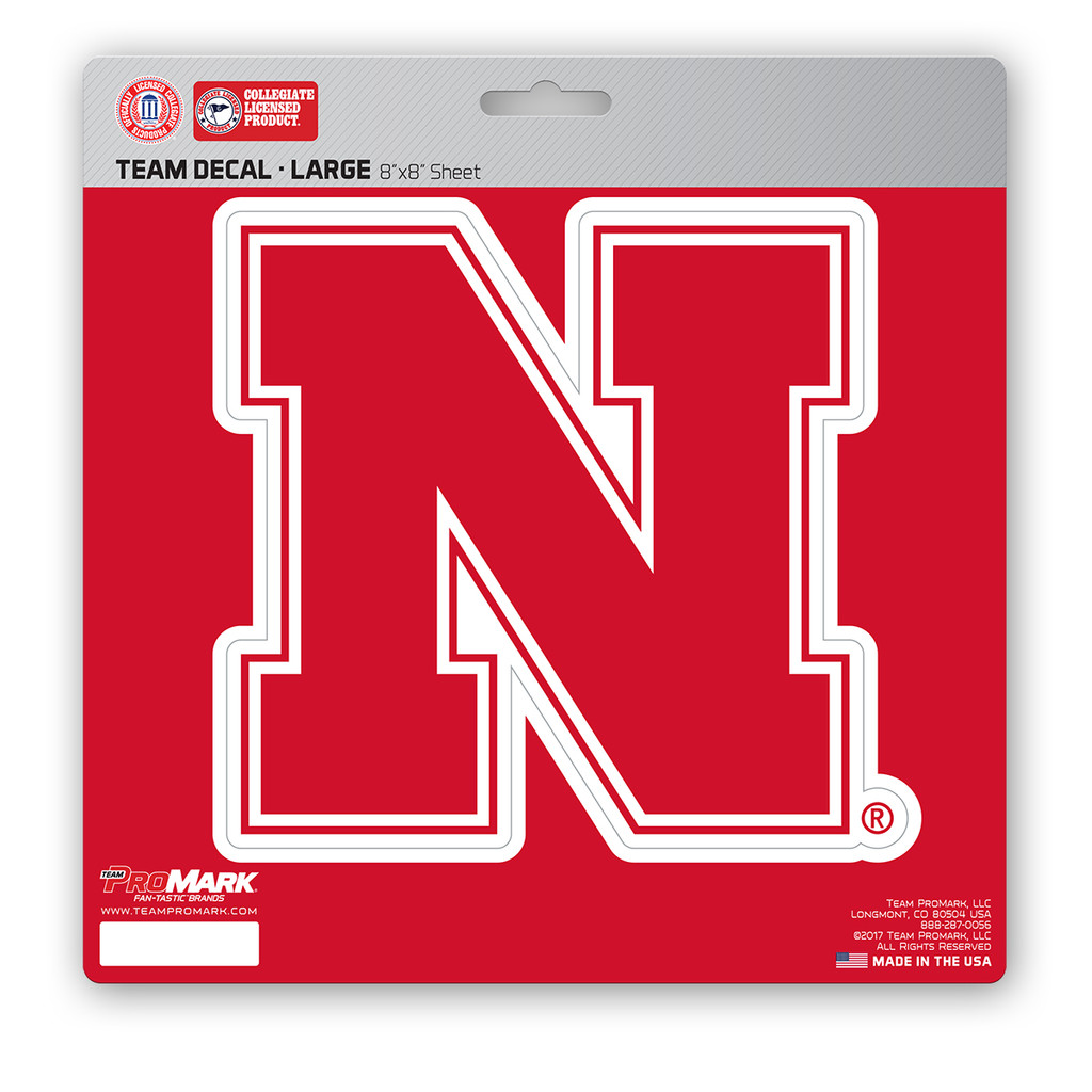 Nebraska Cornhuskers Decal 8x8 Die Cut
