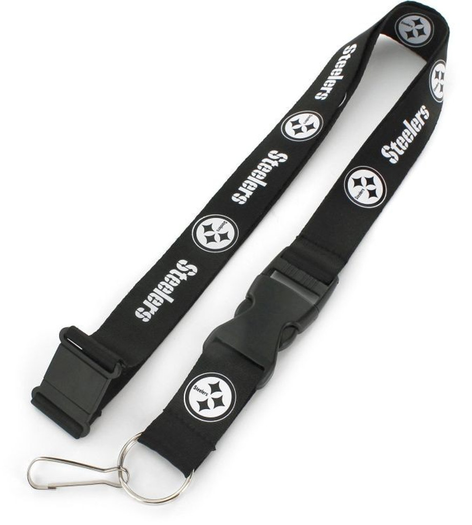 Pittsburgh Steelers Lanyard Black and White