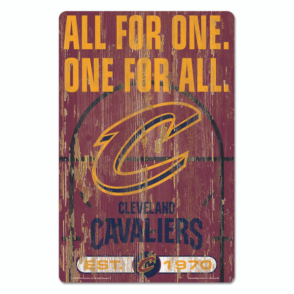 Cleveland Cavaliers Sign 11x17 Wood Slogan Design
