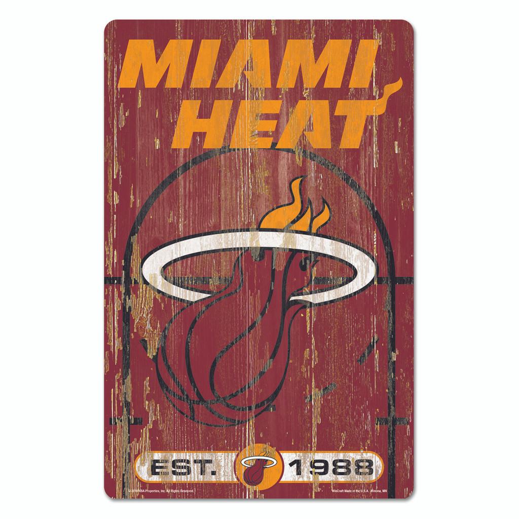 Miami Heat Sign 11x17 Wood Slogan Design