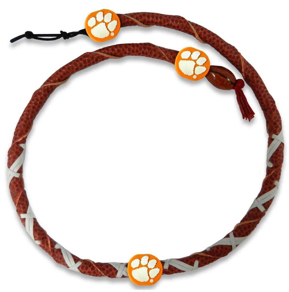Clemson Tigers Spiral Football Necklace