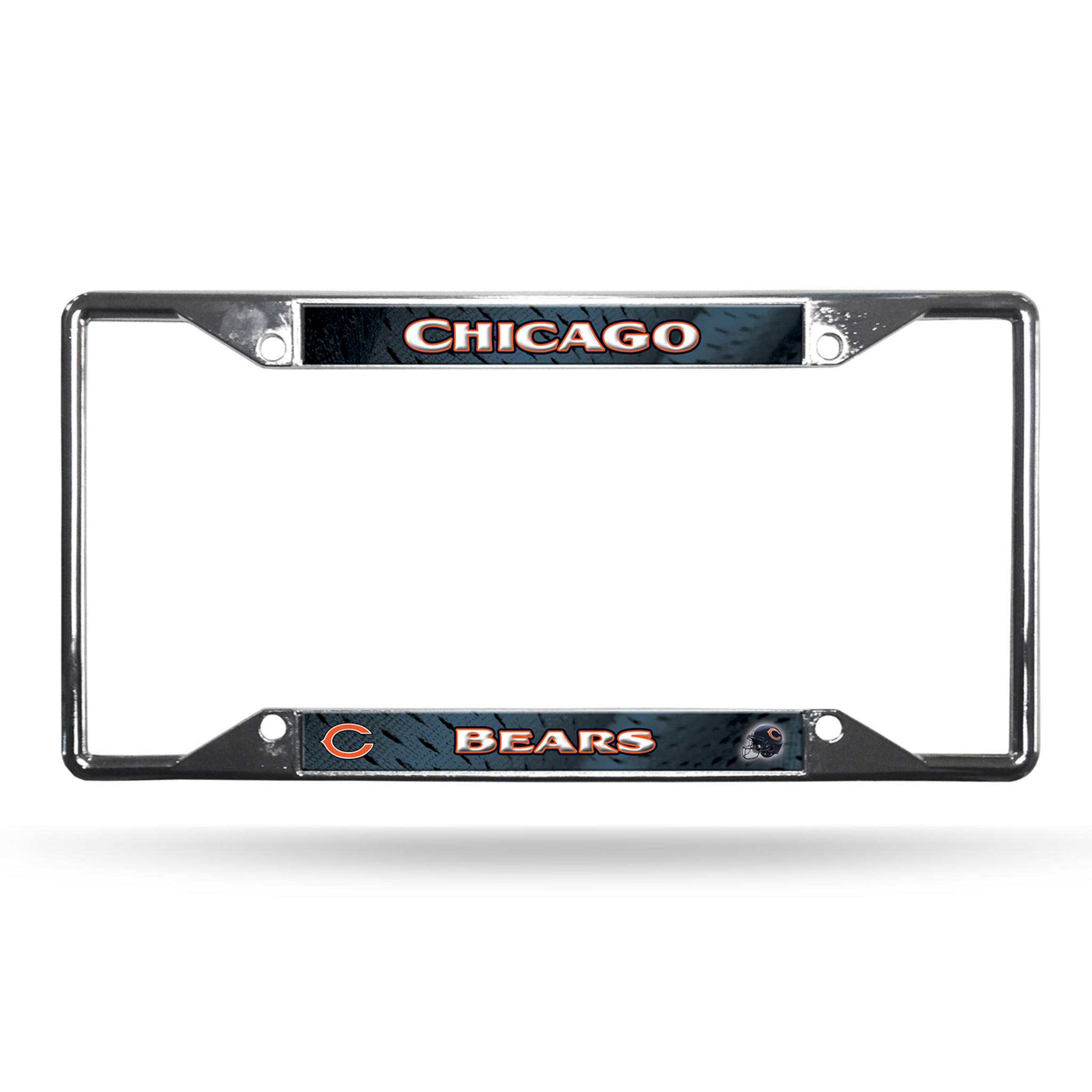 Chicago Bears License Plate Frame Chrome EZ View - Caseys Distributing