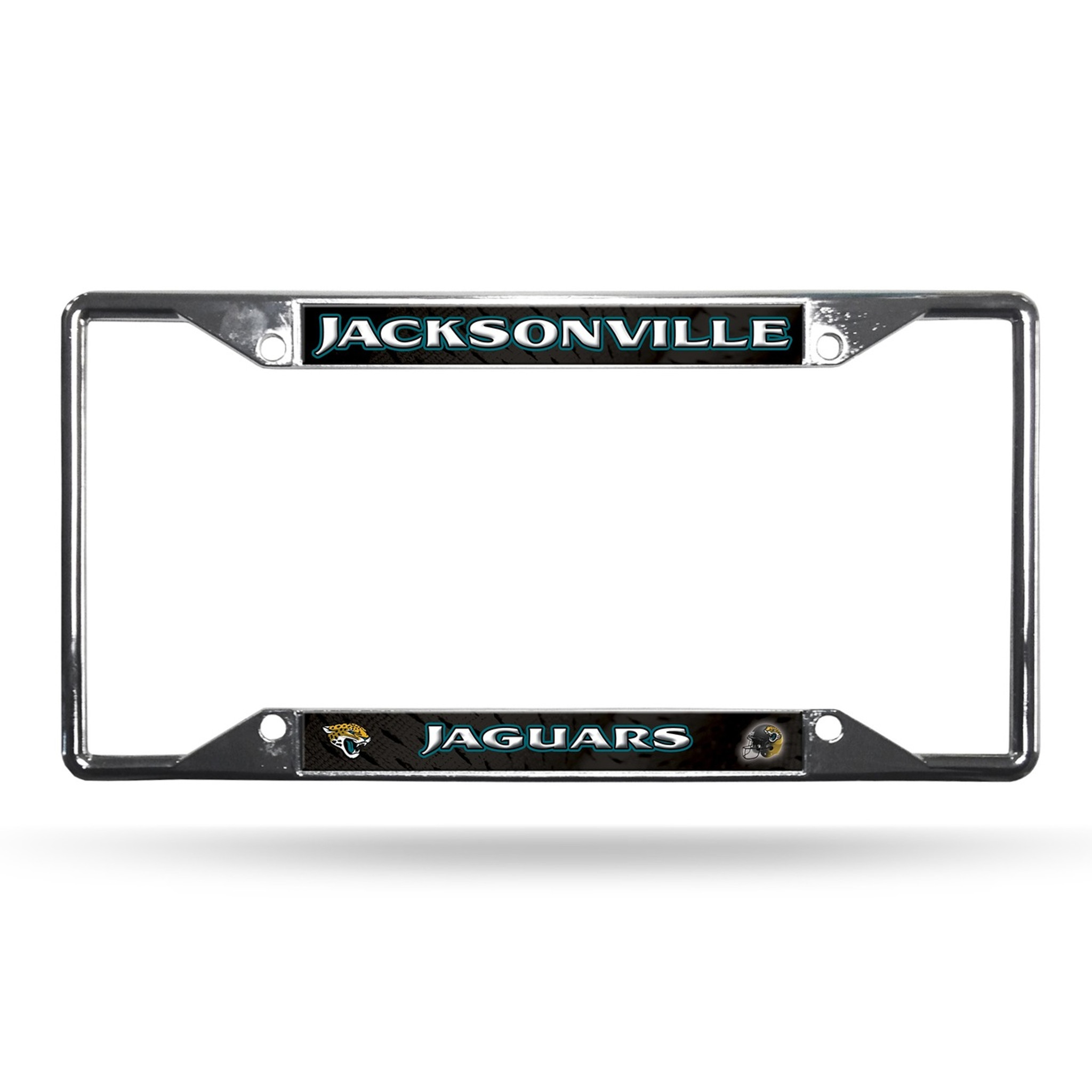 Jacksonville Jaguars License Plate Frame Chrome EZ View - Caseys ...