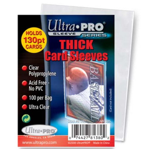 Ultra Pro Card Sleeve - Thick - (100 per pack)