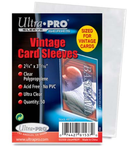 Ultra Pro Vintage Card Sleeve - (50 per pack)