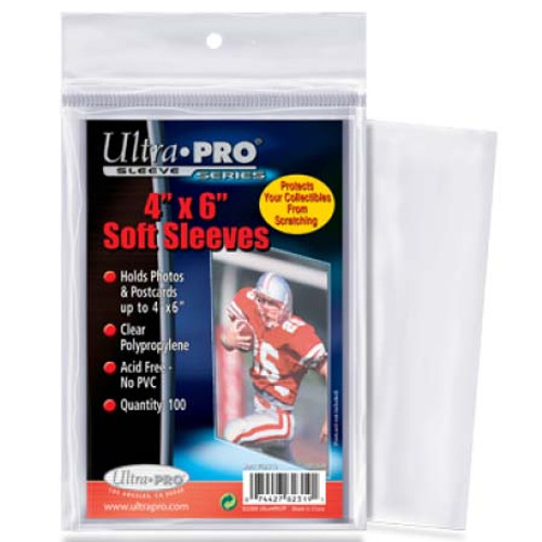 "Ultra Pro 4"" x 6"" Card Sleeve - (100 per pack)"