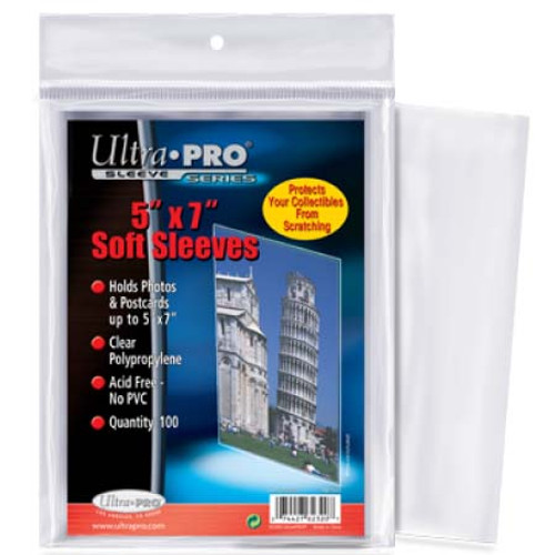 "Ultra Pro 5"" x 7"" Card Sleeve - (100 per pack)"