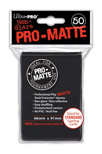 Deck Protector - Pro-Matte - Black (12 packs of 50)
