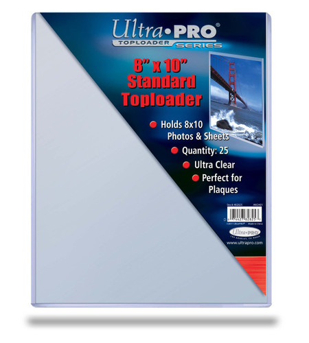 "Top Loader - 8"" x 10"" - Standard - (25 per pack)"