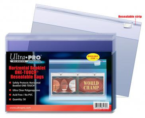 One Touch Resealable Bag - Booklet Horizontal - (50 per pack)