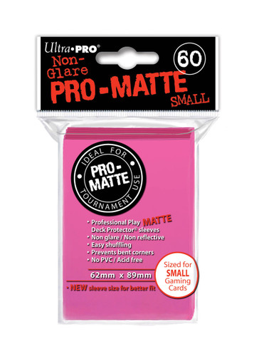 Deck Protector - Pro-Matte Small Size - Bright Pink (10 packs of 60)