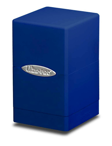 Satin Tower Deck Box - Blue