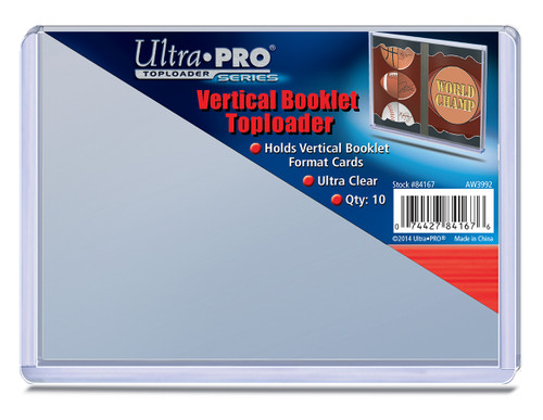 Top Loader Booklet - Vertical - (10 per pack)
