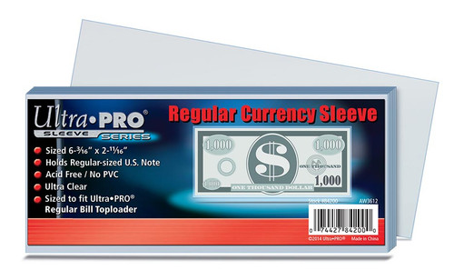 Ultra Pro Currency Sleeve - (100 per pack)