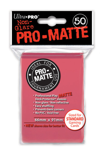 Deck Protector - Pro Matte - Fushia (12 packs of 50)