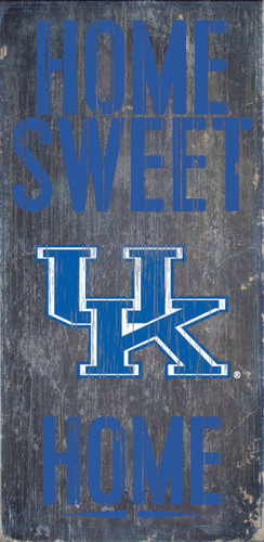 "Kentucky Wildcats Wood Sign - Home Sweet Home 6""x12"""