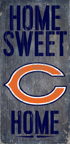 """Chicago Bears Wood Sign - Home Sweet Home 6""""x12"""""""