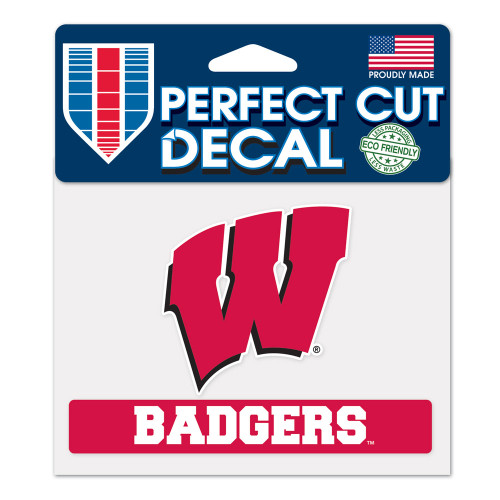 Wisconsin Badgers Decal 4.5x5.75 Perfect Cut Color