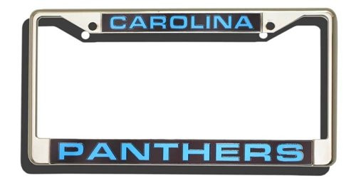 Carolina Panthers Laser Cut License Plate Frame