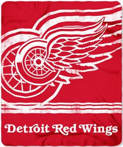 Detroit Red Wings Blanket 50x60 Fleece Fade Away Design