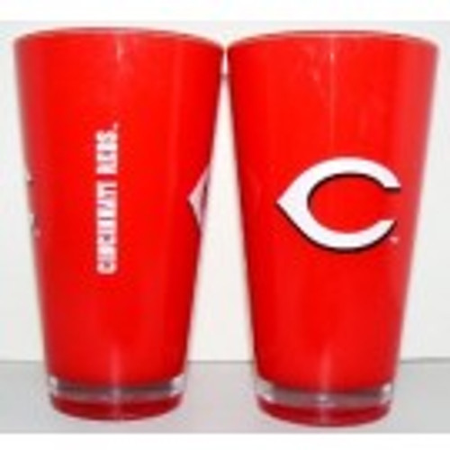 Cincinnati Reds 20 oz Insulated Plastic Pint Glass