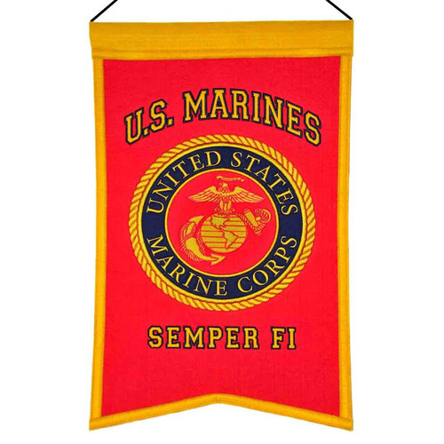US Marines Banner Wool