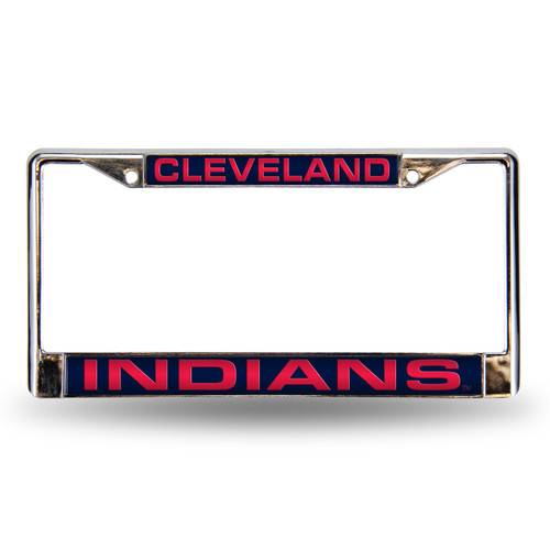 Cleveland Indians Laser Cut License Plate Frame