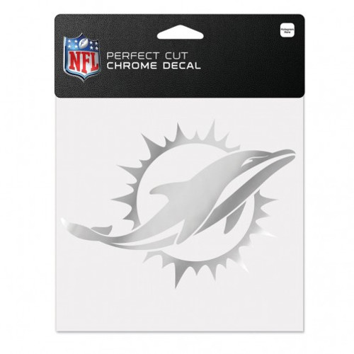 Miami Dolphins Decal 6x6 Perfect Cut Chrome