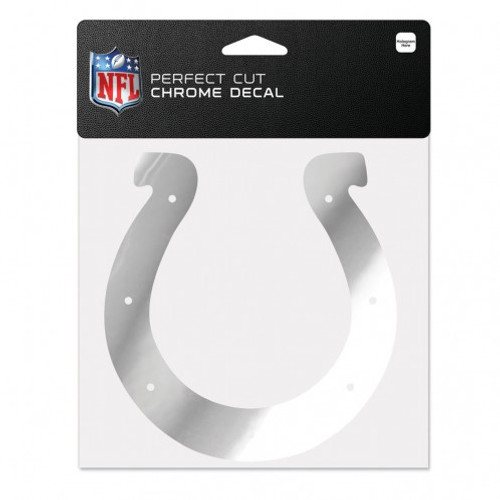 Indianapolis Colts Decal 6x6 Perfect Cut Chrome