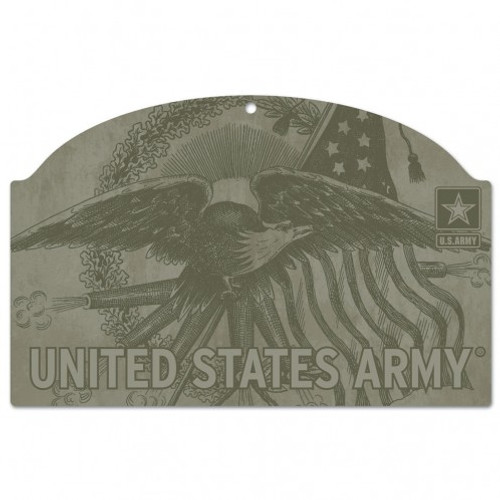 US Army Eagle 11x17 Wood Sign